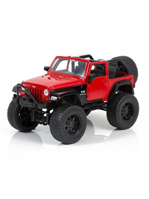 2007 Red Jeep Wrangler - Just Trucks Off Road Edition - 1/24 Scale - Jada Toys 97446