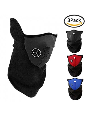 3PCS Ski Face Mask Winter Outdoor Windproof Anti Cold Sports Mask for Motorcycles, Bicycle, Skiing, Running ,Mountain Climbing