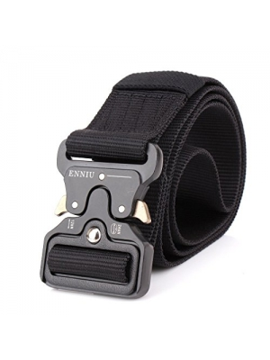 "Mens Tactical Belt, W/1.5""-1.7"" Military Nylon Waist Belt with Metal Buckle Adjustable Combat Equipment Belt Heavy Duty Army Training Carry Waist Belt"