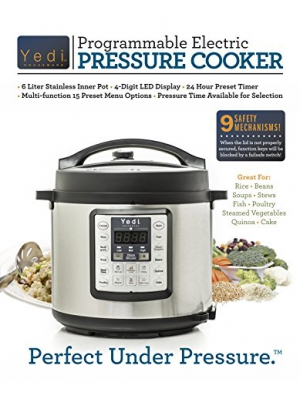 7-in-1 Multifunctional Electric Pressure Cooker, 6QT/1000W by Yedi Houseware
