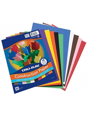 "Tru-Ray Construction Paper, 10 Classic Colors, 9"" x 12"", 50 Sheets"