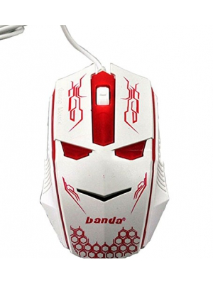 WQSuma Hot Sale Game Mouse 1200 DPI Wired Mouse Red