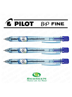 Pilot B2P Retractable Ballpoint Pen - Box of 10 - Blue - [94% Recycled Plastic]