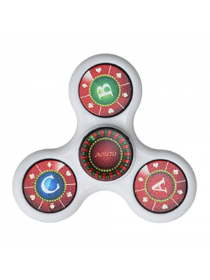 Spinner Fidget Toy,Family Game Spinner Stress Reducer Portable Tri-Spinner Anti-Anxiety 360 Spinner Relieves ADHD Anxiety EDC Hand Spinner,Drop Test,Mute Bearing