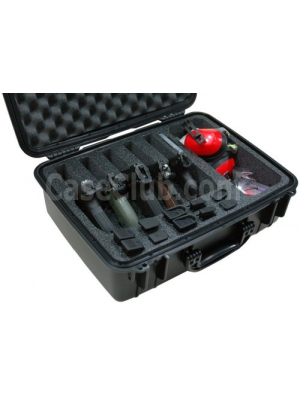 Case Club Waterproof 5 Pistol Case & Accessory Pocket with Silica Gel
