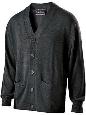 Holloway Mens Letterman Sweater - Black
