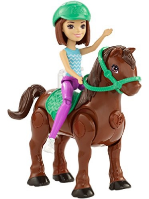Barbie On-the-Go Brown Pony and Doll