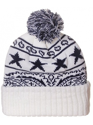 American Cities Unisex USA Bandana Style Cities Pom Pom Knit Hat Cap Beanie