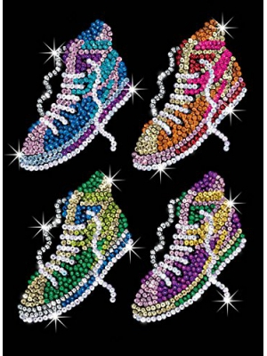 Sequin Art Orange, Street Feet, Sparkling Arts and Crafts Picture Kit, Creative Crafts