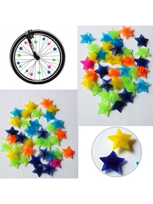 Bike Bicycle Wheel Spoke Beads Luminous Plastic Clip Spoke Bead Bicycle Beads Wire Beads Decorations