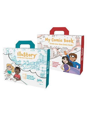 Lulu Jr. Illustory & My Comic Book Gift Set - Craft Kits to Create Your Own Books
