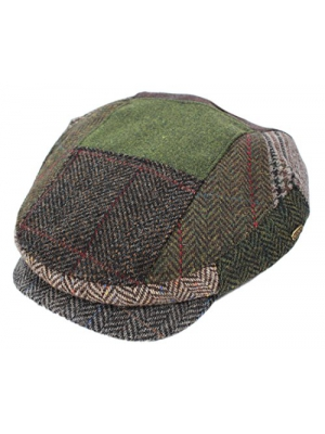 Mucros Patchwork Cap Earthtones As Seen in Images Irish Made