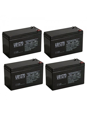 Universal Power Group 12V 7AH Battery for Razor Pocket Mod Miniature Euro Scooter - 4 Pack