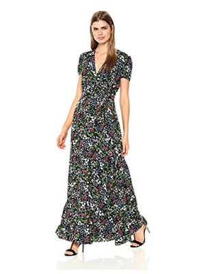Wild Meadow Women's Floral Wrap Gown