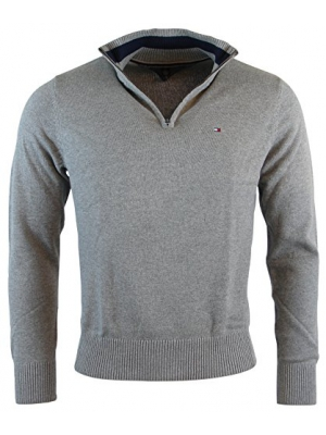 Tommy Hilfiger Mens Half-Zip Mock Neck Sweater