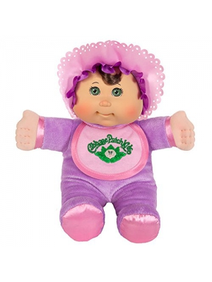 Cabbage Patch Kids 11 Inch Purple Retro Baby Doll (Caucasian Girl, Brown Hair, Green Eyes)