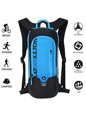 LOCALLION Cycling Backpack Biking Backpack Riding Daypack Bike Rucksack Breathable Lightweight for Outdoor Sports Travelling Mountaineering Hydration Water Bagпј€Not includedпј‰ men women 10L Blue