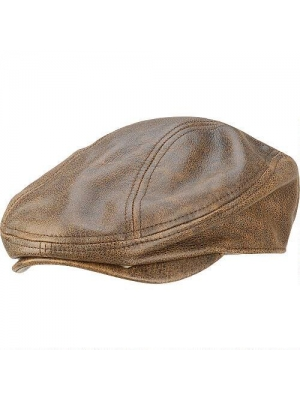 Wilsons Leather Mens Distressed Leather Driving Cap