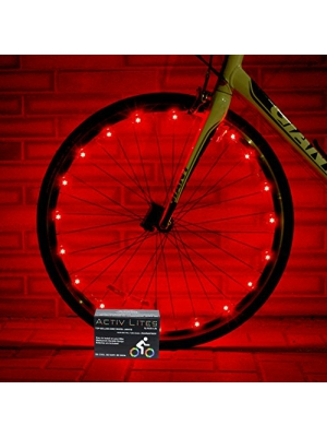 Super Cool LED Bike Wheel Lights - Best Birthday Presents for Boys & Girls. Fun Men & Ladies Gift Ideas. BATTERIES INCLUDED! Get 100% Brighter & Safer Bicycle Spokes & Rims. Easy Install (1 Tire Pack)