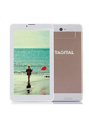 "Tagital 7"" Dual Core 3G Phablet, Android Phone Tablet, Android 4.4 Kitkat, Bluetooth 4.0, 1024 x 600 HD Screen, Dual Camera with Flash, Unlocked GSM, w/ Dual Sim Card Slot, 2G/3G Phablet"