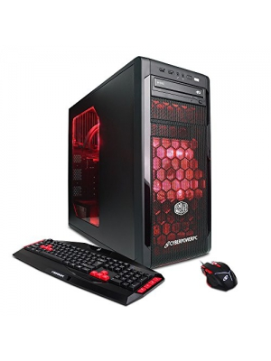 CYBERPOWERPC Gamer Xtreme Liquid Cool GLC2300 Gaming Desktop - Intel Core i7-4790K 4.0 GHz CPU, 8GB DDR3 RAM, AMD R7 370 2GB, 1TB HDD, 128GB SSD, 24X DVD+-RW, Liquid Cool, Win 10 Home
