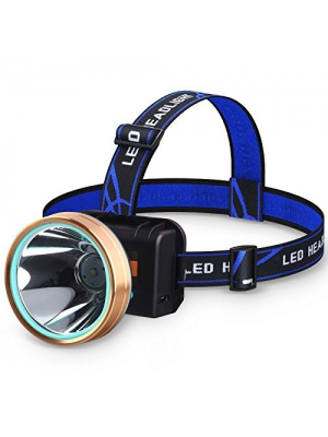 LED Headlamp, LED Headlamp USB Rechargeable, LED Headlamp Flashlight, Outdoor USB LED Headlamp, Waterproof with 2 Lighting Modes, Battery Powered Swivel LED Headlight for Camping and Hiking