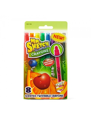 Mr. Sketch Scented Twistable Crayons, Assorted Colors, 8-Count
