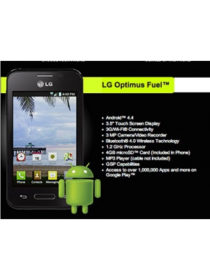 Straight Talk LG Optimus Fuel Android KitKat 4.4 Smartphone (No Contract)