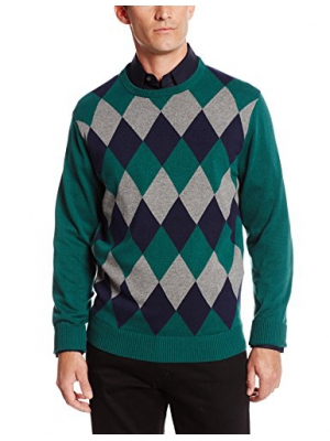 IZOD Men's Varsity Stripe Crew-Neck Sweater