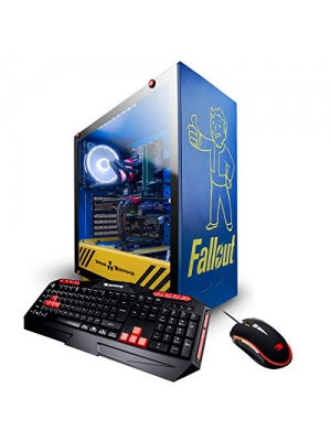 iBUYPOWER Fallout Special Limited Edition Gaming PC Computer Desktop (Intel i7 8700K 3.7GHz, NVIDIA Geforce RTX 2070 8GB, 16GB DDR4-2666 RAM, 1TB SSD, WiFi Included, Liquid Cooled, Win 10 Home) Blue