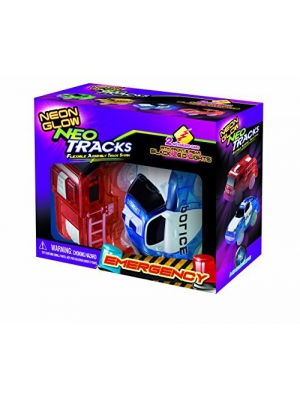 Mindscope Neon Glow Twister Tracks Neo Tracks LIGHT UP (5 LED lights) VEHICLES: EMERGENCY SERIES