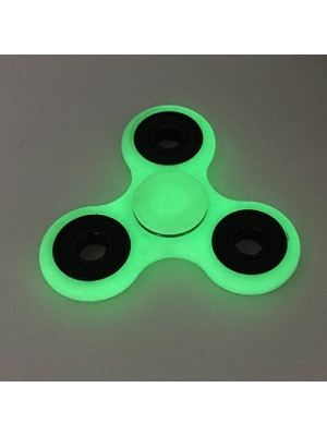 Yakalla Hot Lighting White Fidget Toy Abs Plastic, Edc Hand Spinner for Autism and Adhd Rotation Stress Relief Toys Glowing in The Dark (Fluorescence)