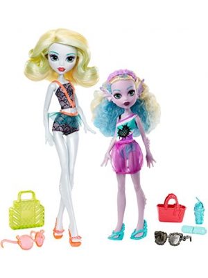 Monster High Monster Family Lagoona Blue and Kelpie Blue Dolls, 2 Pack