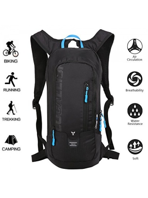 LOCALLION Cycling Backpack Biking Backpack Riding Daypack Bike Rucksack Breathable Lightweight for Outdoor Sports Travelling Mountaineering Hydration Water Bag men women 10L Black