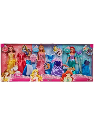 Disney Princess Dreams Come True 3 Dolls & Fashions Gift Set