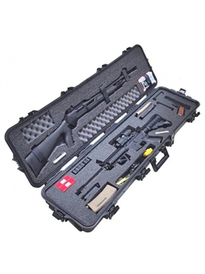 Case Club Pre-Made Waterproof 3 Gun Competition Case with Silica Gel & Accessory Box