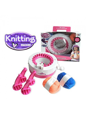 Smart Weaver Knitting Kit Machine for Kids - Quick Knit Loom Easy to Use