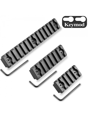 Keymod Picatinny Rail Sections, Monoki 5-Slot 7-Slot 13-Slot Lightweight Picatinny Rail Section for Keymod Handguard Mount Rail System with 3 Allen Wrench & Solid-Style, 3 Pack (5/7/13-Slot)