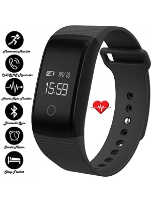 IVY's Smart Heart Rate Monitor Bracelet Fitness Tracker Wristband with Blood Pressure Blood Oxygen Monitor - Bluetooth Pedometer Fitness Bracelet Smart Bracelet Watch for IOS Android