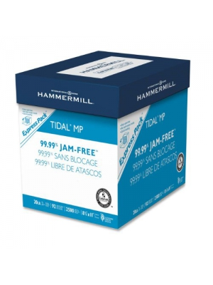 Hammermill Paper, Tidal MP, 20lb, 8.5 x 11, 92 Bright, Letter, 2500 Sheets/ Express Pack (no ream wrap), (163120), Made in the USA