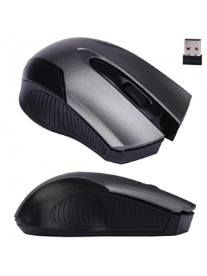 Mouse,Landfox Adjustable 1600DPI 2.4G Optical Wireless Mouse Mice For Laptop PC-Gray
