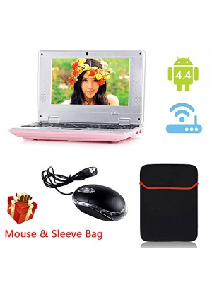 "eForprice 7"" Mini Notebook Laptop Netbook Android 4.2 4GB Storage VIA 8880 Cortex-A9 1.2ghz Wifi Windows Hd Solid Black Mini Laptop 7 Inch Netbook Notebook Computer Tablet Pc, Installed Wifi and Camera, Watch News, Youtube Facebook Twitter, Supports"