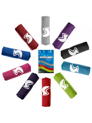 Cooling Towel, Ice Sports Towel, Stay Cool with Microfiber Towel for All Activities, Keep Cool with Chilly Towel, Yoga, Fitness, Gym or Golf Towel for Instant Relief + Pouch