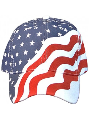 Online Best Service 2 Pack American Flag Ball Cap Hat Us USA Patriotic Stars and Stripes Baseball Cap