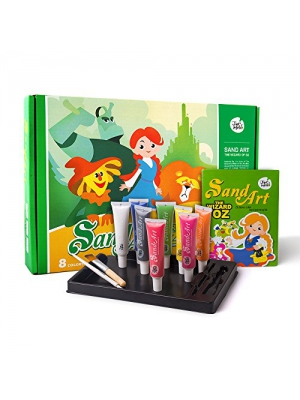 Jar Melo Children's Sand Art Painting Kit; 8 Colors Sand; The Wizard of OZ; Intelligence Toys; Christmas Gift; Xmas Gifts