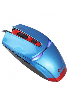 WQSuma Intelligent Anti-skid Roller Cool Light Game Mouse Blue