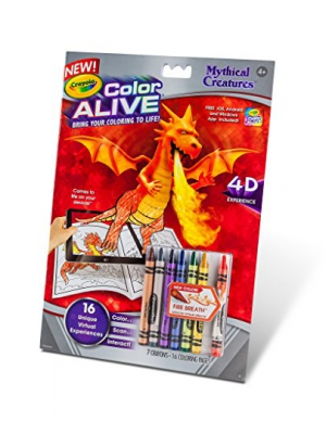Crayola Color Alive Action Coloring Pages-Mythical Creatures