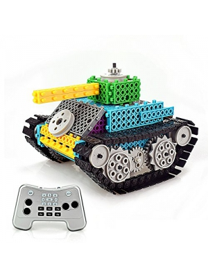 Remote Control Building Blocks, AMGlobal 145 Pcs Remote Control Building Kits, Remote Control Machine, Remote Control Tank Construction Set DIY Robot for Kids Children For Fun