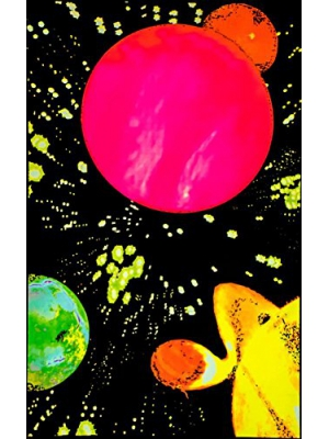 Hyper Space Glow In The Dark Blacklight Poster 23 x 35in