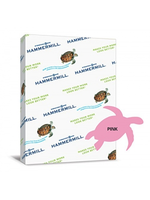 Hammermill Paper, Colors Pink, 24lbs, 8.5x11, Letter, 500 Sheets/1 Ream, (104463R), Made In The USA